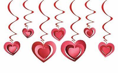 Kalpler Tavan Süsü 3 D 12 Adet