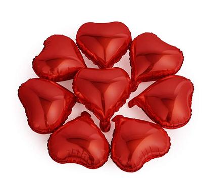 Kırmızı Kalp Folyo Balon 25 x 28 cm 6 Adet