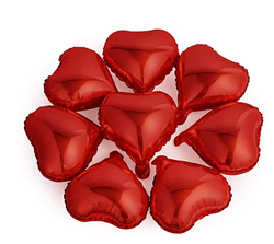 Parti - Kırmızı Kalp Folyo Balon 25 x 28 cm