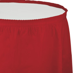 - Kırmızı Masa Eteği 73 x 426 cm