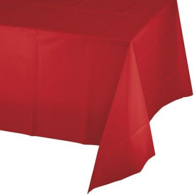 Kırmızı Masa Örtüsü 274 cm X 137 cm ebadında