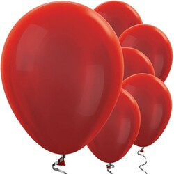 Parti Dünyası - Kırmızı METALİK Balon 10 Adet