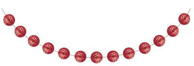Kırmızı Mini Toplar Garlent 275 cm