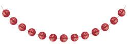Parti Dünyası - Kırmızı Mini Toplar Garlent 275 cm