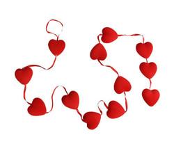 Parti - Kırmızı Minik Kalpli Garlent süs