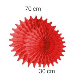 - Kırmızı Renk Yelpaze Süs Seti 2 Adet 70-30 cm