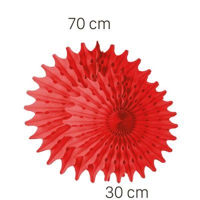 Kırmızı Renk Yelpaze Süs Seti 2 Adet 70-30 cm