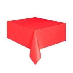 Parti Dünyası - Kırmızı Renk Plastik Masa Örtüsü137 x 183 cm