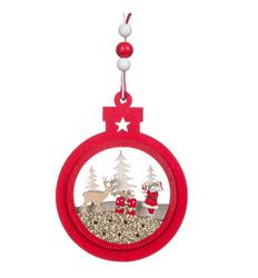 Parti Dünyası - Kış Konseptli Noel Pırıltılı Çam Ağacı Süsü 1 Adet