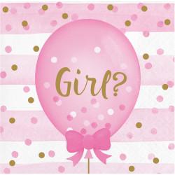 Parti Dünyası - Kız mı Erkek mi? Cinsiyet Partisi 16 lı Küçük Peçete