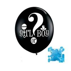 Parti Dünyası - Kız mı Erkek mi? Mavi Konfetili Dev Latex Balon