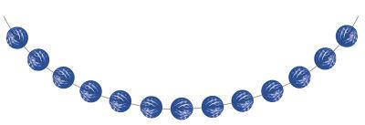 Kobalt Mavi Mini Toplar Garlent 275 cm