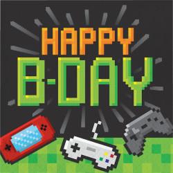 Parti Dünyası - Konsol Oyunları Partisi Happy Birthday Peçete 16 Adet