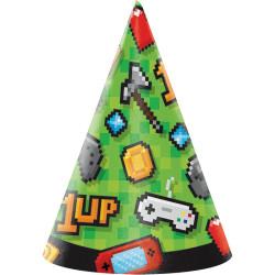 Parti Dünyası - Konsol Oyunları Partisi Şapka 8 Adet