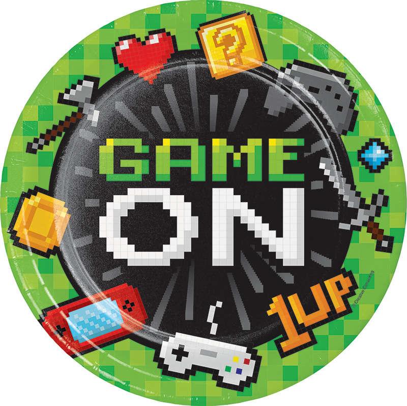 Konsol Oyunları Partisi Tabak 8 Adet