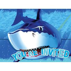 Parti Dünyası - Köpek Balığı Davetiye 8 Adet