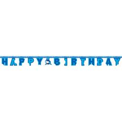 Parti - Köpek Balığı Happy Birthday Harf Afiş