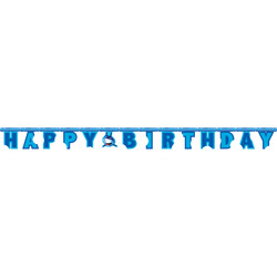 Parti Dünyası - Köpek Balığı Happy Birthday Harf Afiş