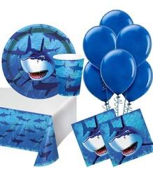 Parti Dünyası - Köpek Balığı Partisi 16 Lı Parti Seti