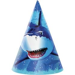 Parti Dünyası - Köpek Balığı Şapka 8 Adet