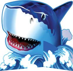 Parti - Köpekbalığı Partisi Masa Orta Süsü