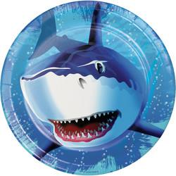 Parti Dünyası - Köpek Balığı Partisi Tabak 8 Adet