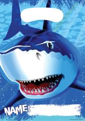 Parti Dünyası - Köpekbalığı Partisii Hediye Poşeti 8 Adet