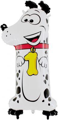 - Köpekli 1 Yaş Jumbo Folyo Balon