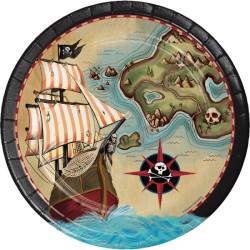 Parti Dünyası - Korsan Haritası 8 li Tabak