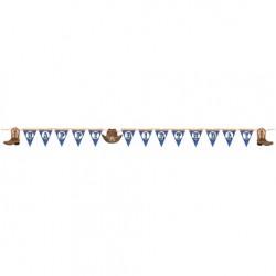 Parti Dünyası - Kovboy Partisi Happy Birthday Bayrak afiş