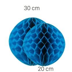 - Koyu Mavi Petek Süs Seti 2 Adet 30-20 cm