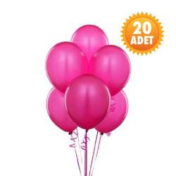 Parti Dünyası - Koyu Pembe 20 Li Latex Balon