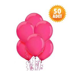Parti Dünyası - Koyu Pembe 50 Li Latex Balon