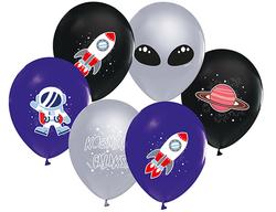 Parti Dünyası - Kozmik Galaksi 6 Lı Latex Balon