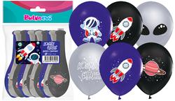 Parti Dünyası - Kozmik Galaksi Baskılı Latex Balon 12 Adet