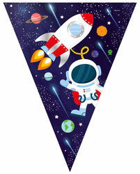 Parti - Kozmik Galaksi Bayrak Afiş