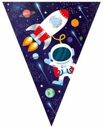 Parti Dünyası - Kozmik Galaksi Bayrak Afiş