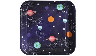 Kozmik Galaksi Kare Tabak 8 Adet 18 cm