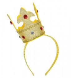 Parti Dünyası - Kraliçe Tacı Altın Rengi, Taşlı