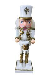 Parti Dünyası - Kurşun Asker Fındıkıran Beyaz Gold Simli ve Davullu 25 cm