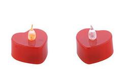 Parti Dünyası - Led Işıklı Kalpli Mum Pilli 4x4 cm 1 Adet