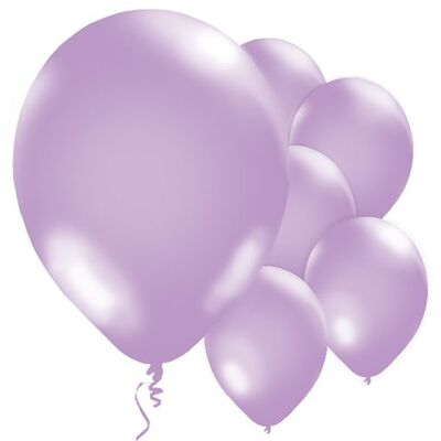 Lila 10 lu Latex Balon