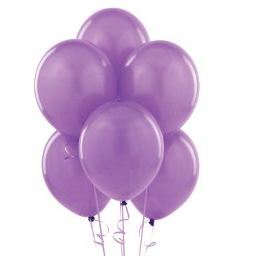 - Lila 100 Lü Latex Balon