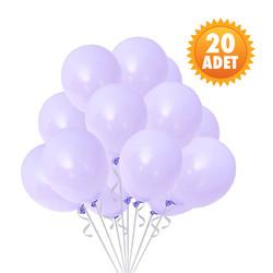 Parti Dünyası - Lila Renk 20 Li Latex Balon