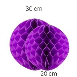 - Lila Renk Petek Süs Seti 2 Adet 30-20 cm