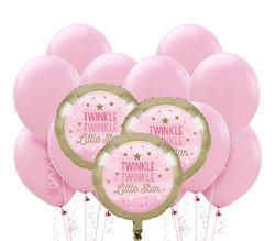 Parti Dünyası - Little Star Pembe Balon Demeti 23 Adet