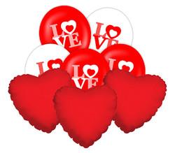 Parti Dünyası - LOVE - AŞK Balon Demeti 23 Adet