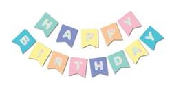 Parti Dünyası - Macaron Renkler Hologram Happy Birthday Afiş