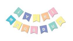 Parti Dünyası - Macaron Renkler Hologram İyi ki Doğdun Afiş