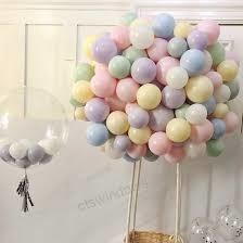 Parti - Makaron Karışık Renklerde 10 Lu latex Balon Küçük Boy